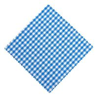 Marmalade jar napkin check petrol 15x15cm incl. textile bow
