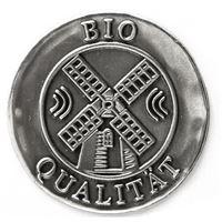 """Metalletikett """"Bio Qualität"""""""