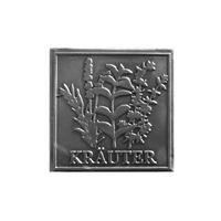 "Metalletikett ""Kräuter"""