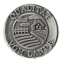 """Metalletikett """"Qualität vom Lande"""""""