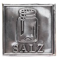 "Metalletikett ""Salz"""