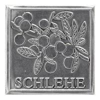 """Metalletikett """"Schlehe"""""""