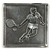 """Metalletikett """"Tennisspelare"""""""