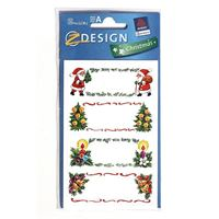 Motif christmas labels for self-labeling