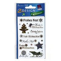"""Weihnachtsetiketten """"Schriften und Symbole"""""""
