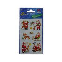 Motivo etiqueta adhesiva para Navidad Papá Noel