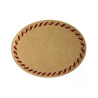 "Natural label ""oval"" with red edge - small"