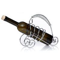 Porta bottiglia in metallo cromato