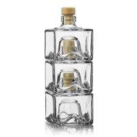 """Sæt af 3 stabelbare flasker á 200ml """"Cocolores"""""""