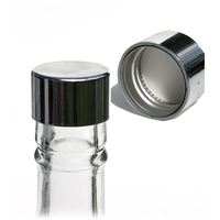 "Screw cap PP28 silver with thread ""silver"""