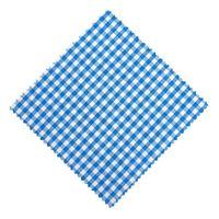 Servietta in stoffa a scacchi petrol 15cmx15cm con nastro in tessuto