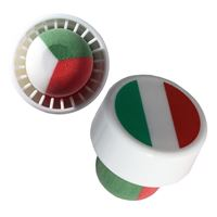 "Stopper in the color of the national flag ""Italy"" type M"