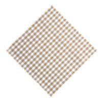 Textil duk rutig beige/vit 15x15cm incl. Textil rosett