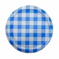 Twist Off closure with 82mm checkered blue