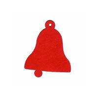 "Pendant card ""bell"" red"