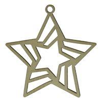 "Pendentif en bois ""star"""