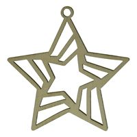 "wooden pendant ""star"""