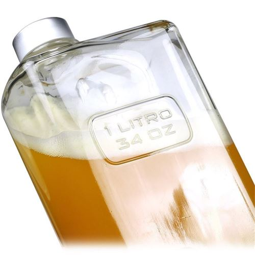 """1000ml Bottiglia in vetro chiaro """"Optima Lattina"""""""