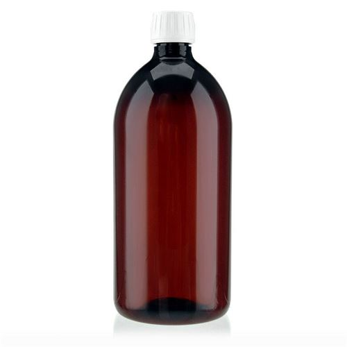 1000ml PET-flaske, brun