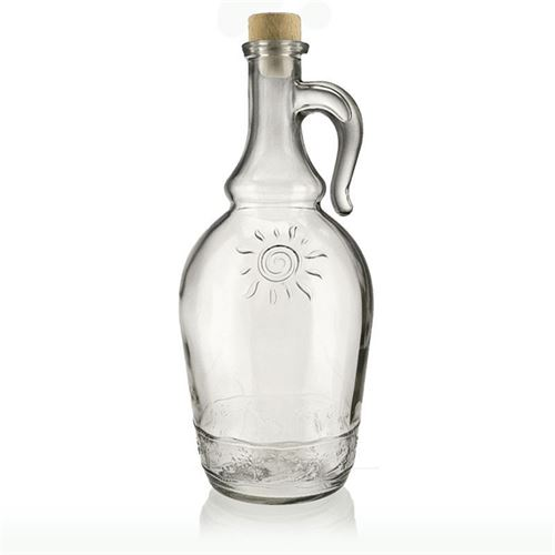 """1000ml bottiglia in vetro chiaro con manico """"Sunny"""""""