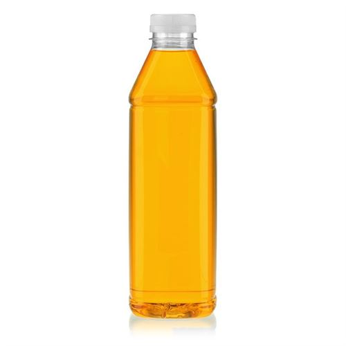 """1000ml bouteille col large PET """"Milk and Juice Carree"""" blanc"""