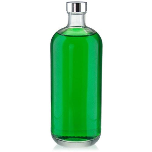 """1000ml bouteille en verre clair """"Lotto"""" avec fermeture GPI"""