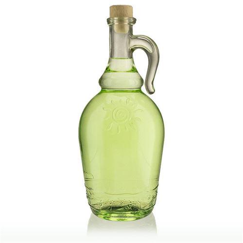 """1000ml bouteille en verre clair """"Sunny"""" avec poignée"""
