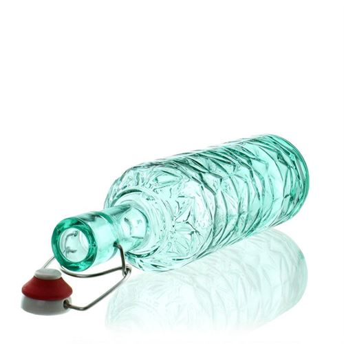 """1000 ml designerflaske """"DeLuxe"""", turkis"""