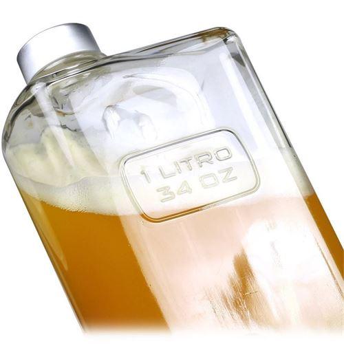 """1000ml flaske i klart glas """"Optima Lattina"""""""
