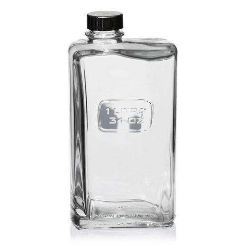 """1000ml glazen fles clear """"Optima Lattina"""""""