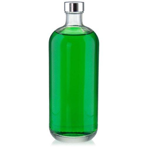 "1000ml klar glasflaske ""Lotto"" med GPI-skruelåg"