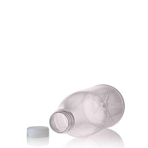 """1000ml Botella PET con gollete ancho """"Milk and Juice"""" blanco"""