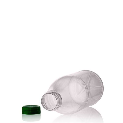 "1000ml Botella PET con gollete ancho ""Milk and Juice"" verde"