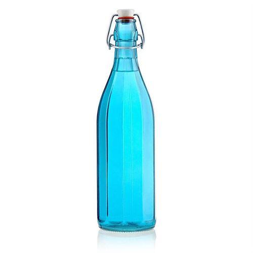 """1000ml Bottiglia con chiusura meccanica """"Florida Azure"""""""