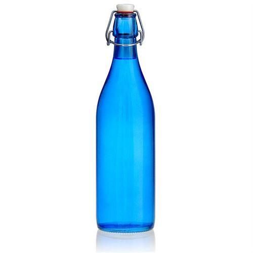 """1000ml Bottiglia con chiusura meccanica """"Miami Blue"""""""
