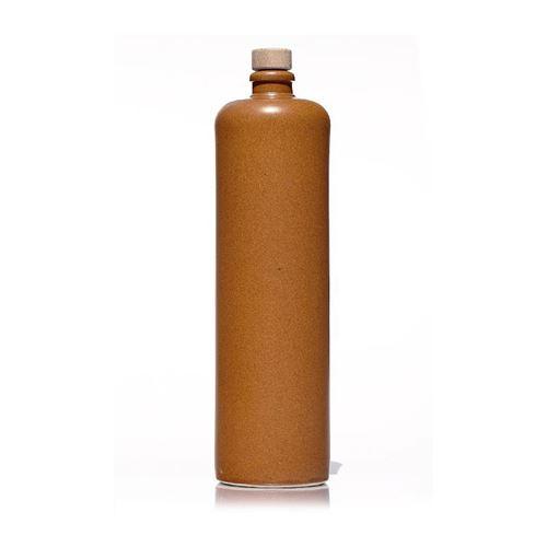 """1000ml Bottiglia in Ceramica con tappo in sughero """"marrone-natura"""""""