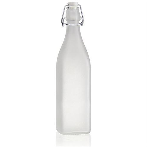 """1000ml Bügelverschlussflasche """"Jumper"""" (mattiert)"""