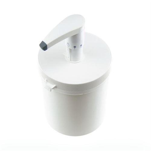 1240ml Doseringspumpe med securybox hvid (HVDS)