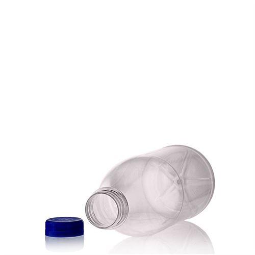 """1000ml PET flaske med bred hals """"Milk and Juice"""" blå"""