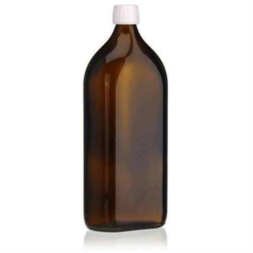 1000ml bottiglia per medicina speciale marrone con chiusura originale di 28mm