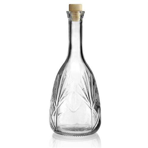 "1000ml flaske i klart glas ""Reliefa"""