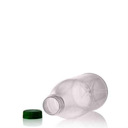 """1000ml PET flaska med bred hals """"Milk and Juice"""" grön"""