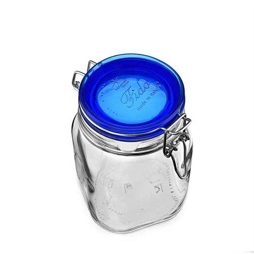 """1000ml pot avec fermeture mécanique """"Rocco Blue"""""""