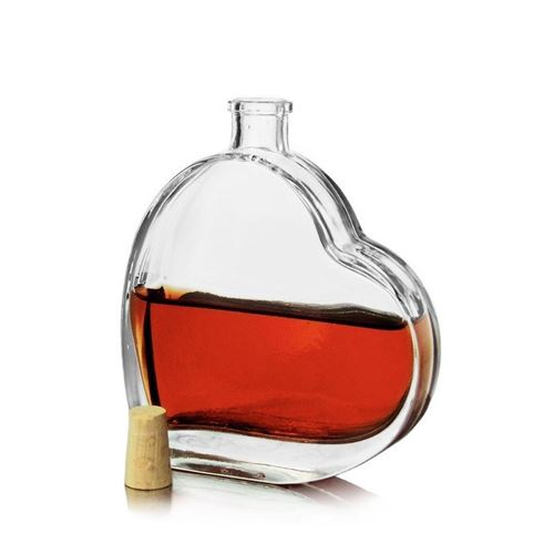 "100ml szklana butelka w formie serca ""Passion"""