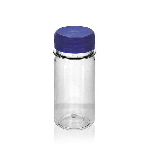 "100ml Botella PET con gollete ancho ""Everytime"" azul"