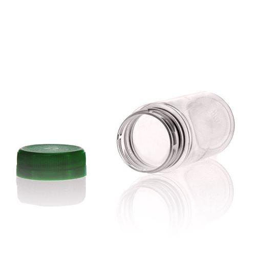 "100ml Botella PET con gollete ancho ""Everytime"" verde"