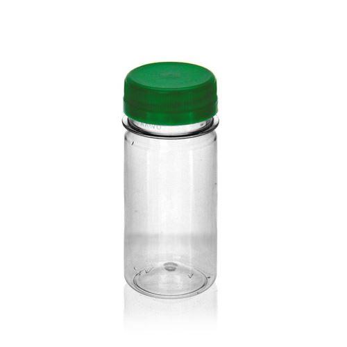 """100ml Bottiglia PET a collo largo """"Everytime"""" verde"""