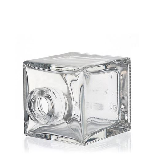 """100ml Bouteille en verre clair """"Cube"""""""