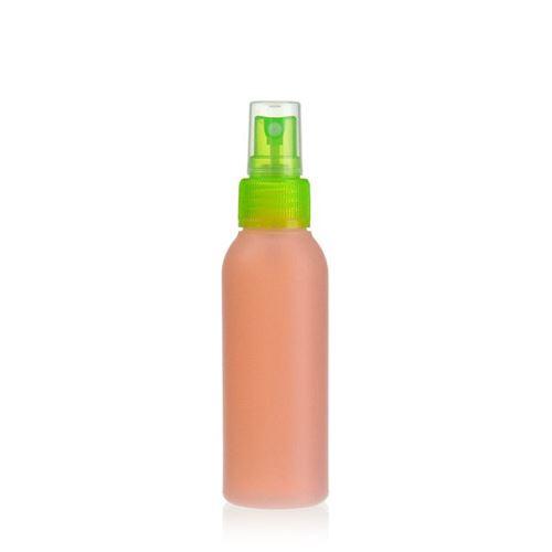 """100ml HDPE-Flasche """"Tuffy"""" natur/grün mit Sprühzerstäuber"""