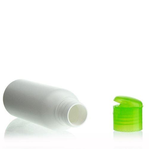 "100ml HDPE-flaske ""Tuffy"" grøn, med klaplåg"